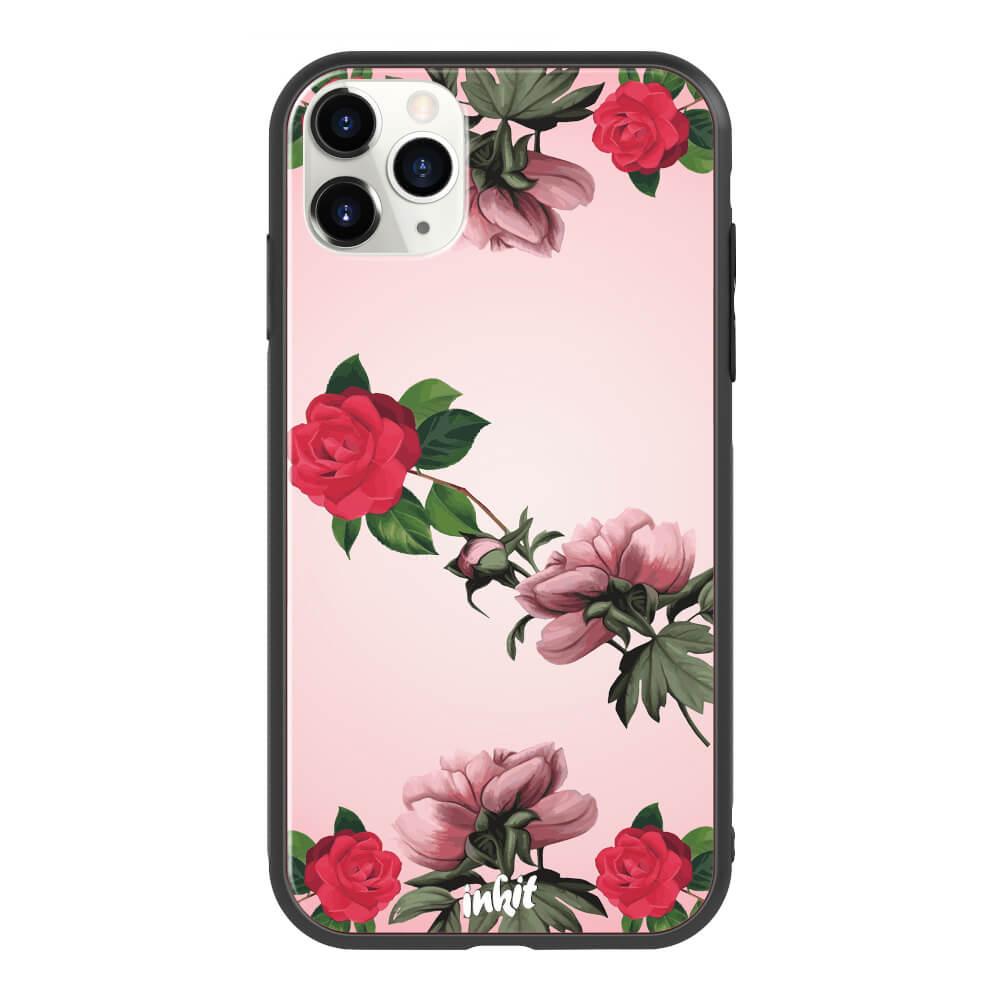 Apple iPhone 11 Pro Max Inkit Suojakuori, Rose Flow