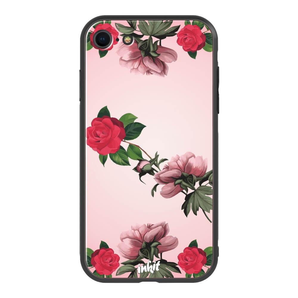 Apple iPhone 7 / 8 Inkit Suojakuori, Rose Flow