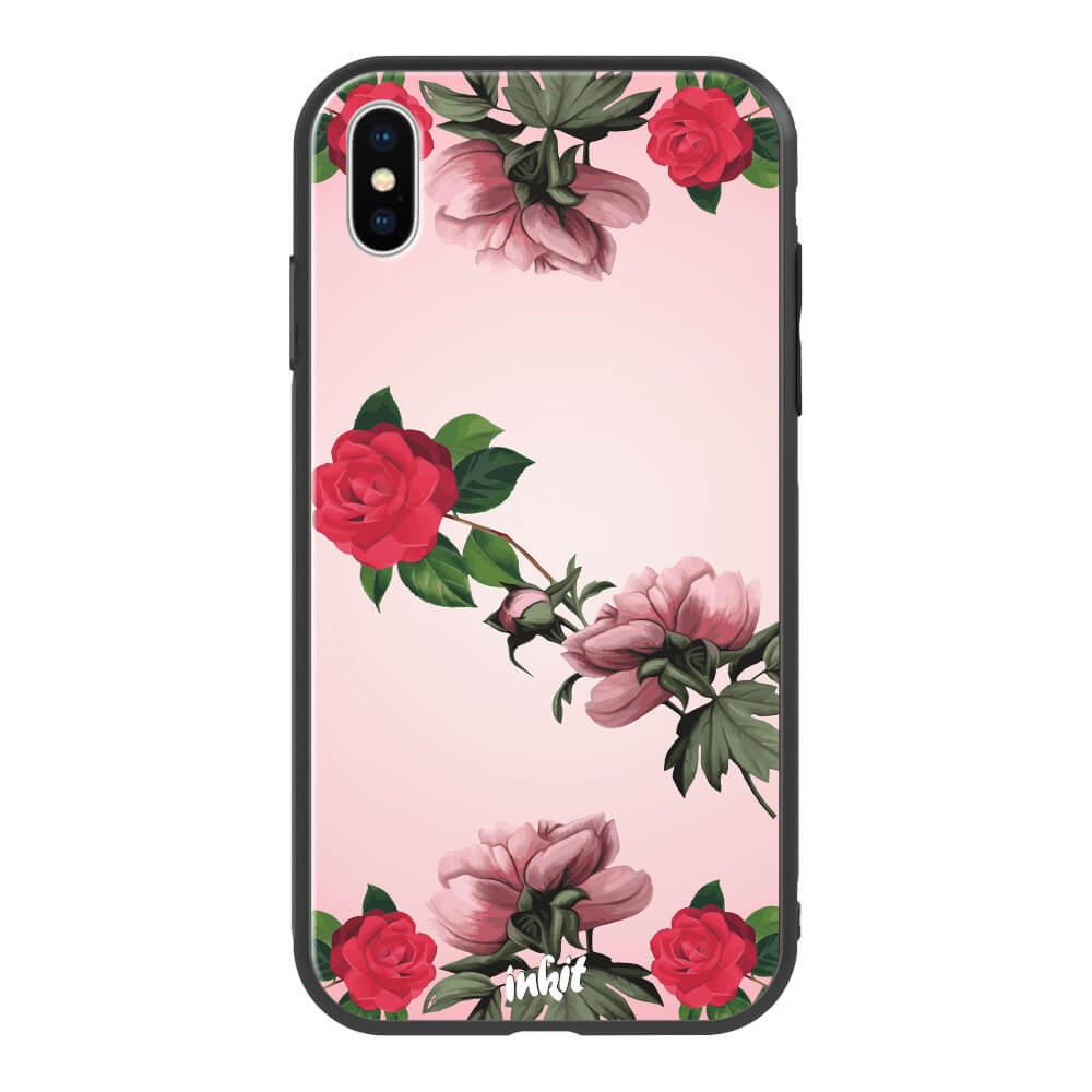 Apple iPhone X / XS Inkit Suojakuori, Rose Flow