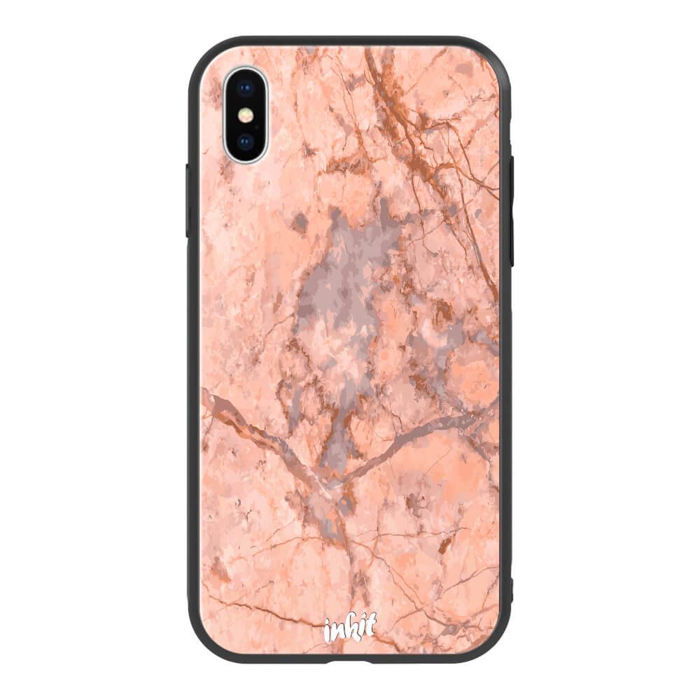 Apple iPhone X / XS Inkit Suojakuori, Rose Marble