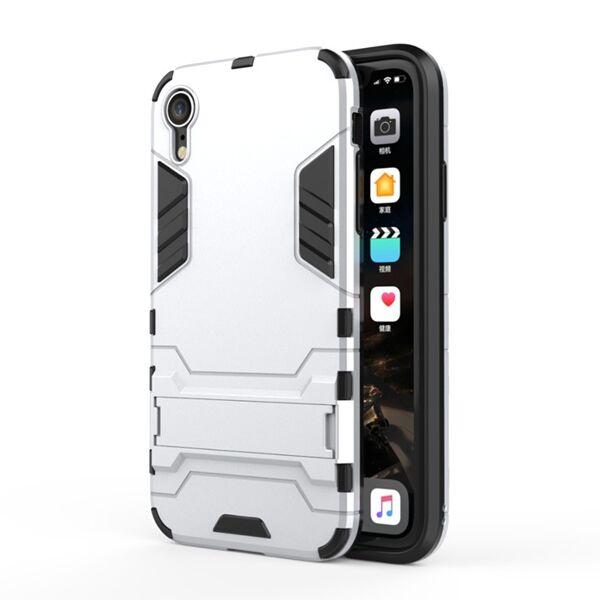 Apple iPhone XR Armor Suojakuori, Hopea