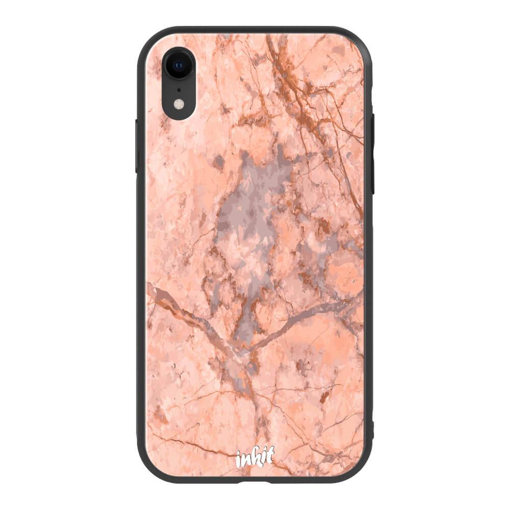 Apple iPhone XR Inkit Suojakuori, Rose Marble
