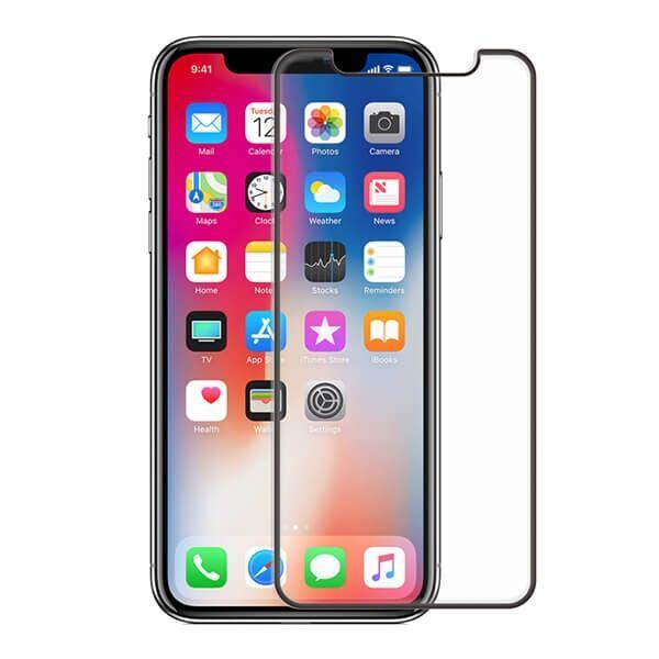 Apple iPhone X / XS / 11 Pro Screenor Koko Näytön Kaareva Panssarilasi, Musta
