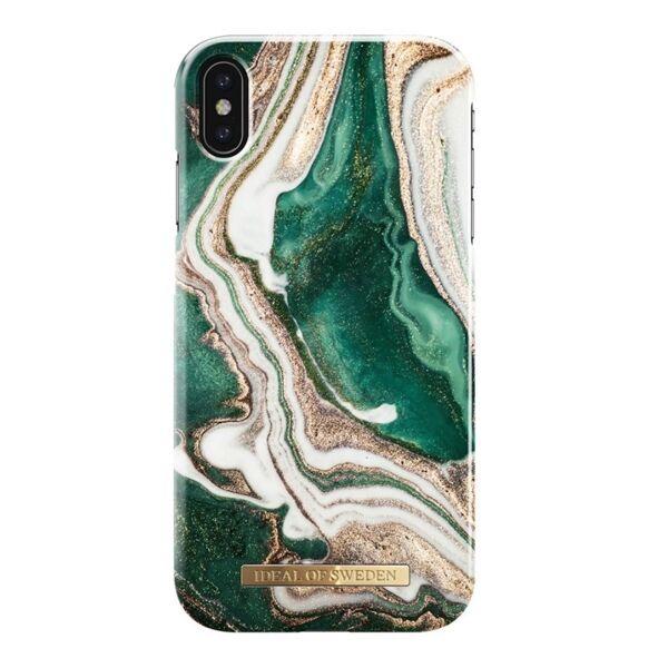 Apple iPhone XS Max iDeal of Sweden suojakuori, Golden Jade Marble