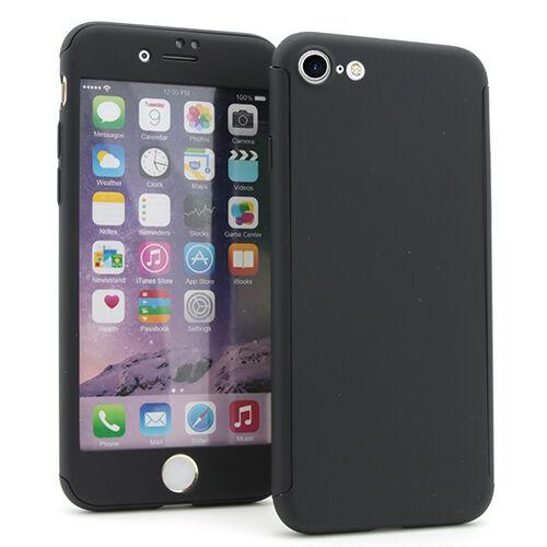 Apple iPhone 7 / 8 Suojakuori Full 360°, Musta