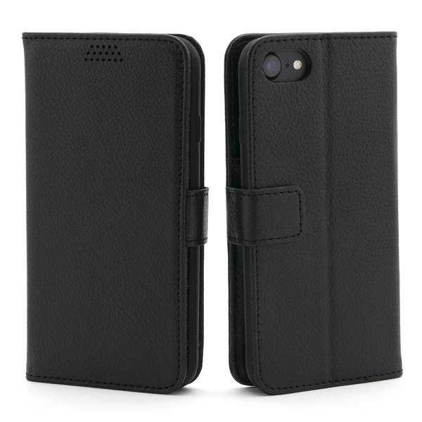 Apple iPhone 7 / 8 Lompakko Suojakotelo, Musta