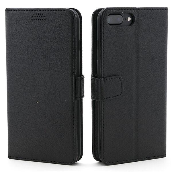 Apple iPhone 7 Plus / 8 Plus Lompakko Suojakotelo, Musta