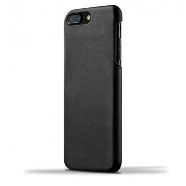 Apple Mujjo Apple iPhone 7 Plus / 8 Plus Nahkainen Suojakuori, Musta