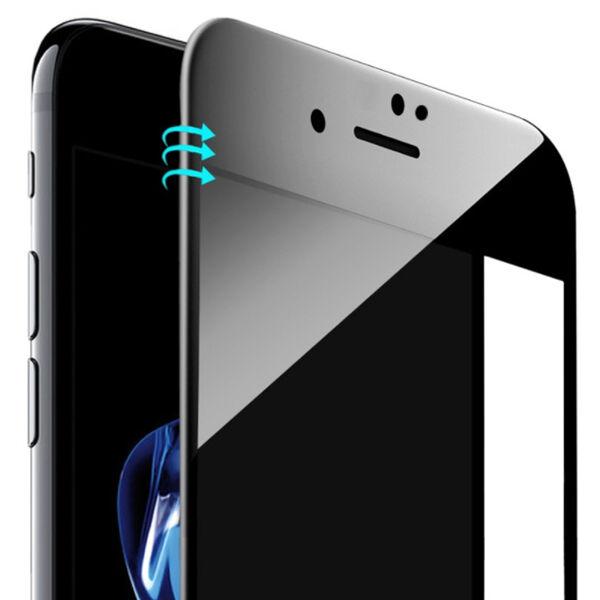 Apple iPhone 7 Plus / 8 Plus Koko Näytön Panssarilasi, Musta