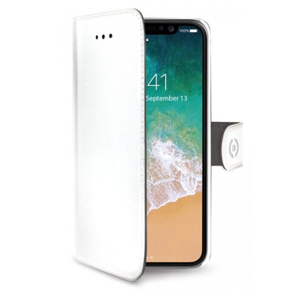 Apple iPhone X / XS Celly Wally Suojakotelo, Valkoinen