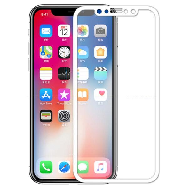 Apple iPhone X / XS / 11 Pro Koko Näytön Panssarilasi, Valkoinen
