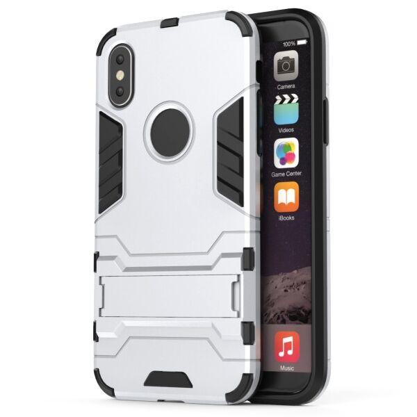 Apple iPhone Xs Max Armor Suojakuori, Hopea