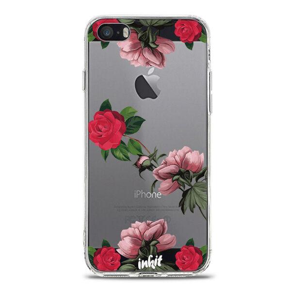 Apple iPhone SE Inkit Suojakuori, Rose Flow