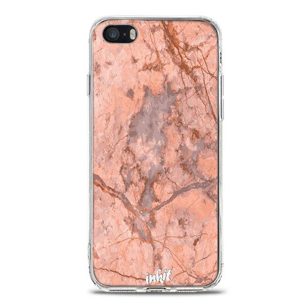 Apple iPhone SE Inkit Suojakuori, Rose Marble