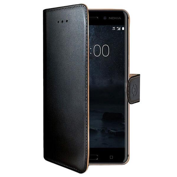 Nokia 6 Celly Wally Suojakotelo, Musta
