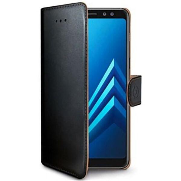 Samsung Galaxy A6+ Celly Wally Suojakotelo, Musta