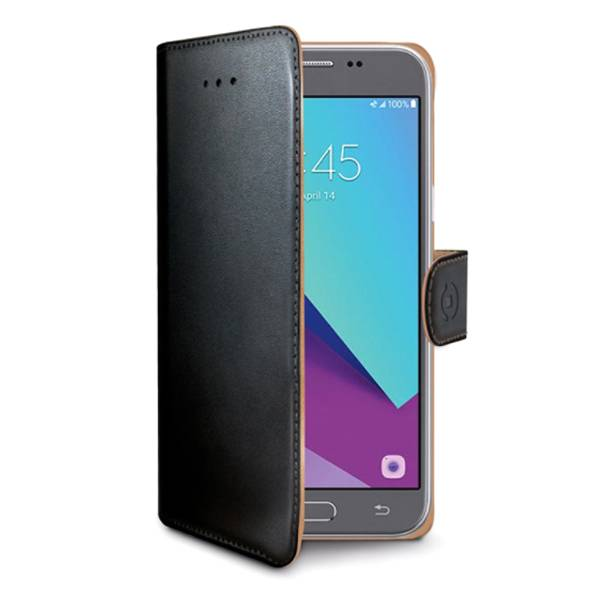 Samsung Galaxy J3 (2017) Celly Wally Lompakko Suojakotelo, Musta