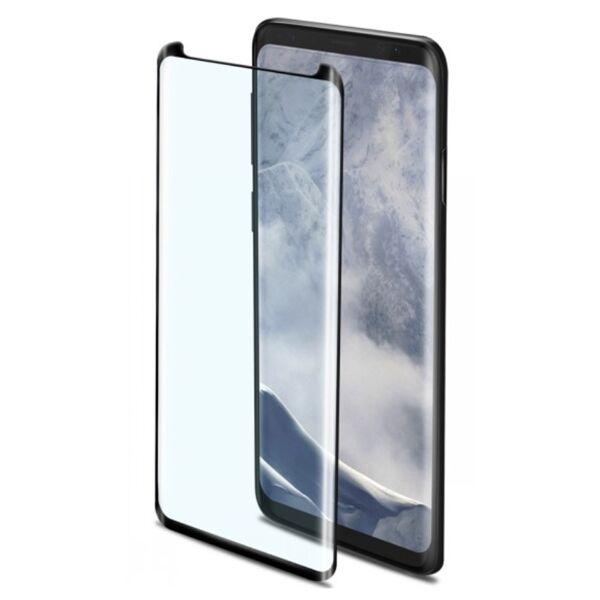 Celly Samsung Galaxy S9 Celly 3D Full Glass Koko Näytön Panssarilasi, Musta