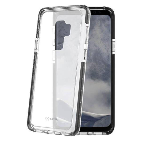 Celly Samsung Galaxy S9+ Celly Hexagon Suojakuori, Musta