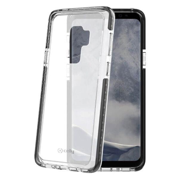 Samsung Galaxy S9 Celly Hexagon Suojakuori, Musta