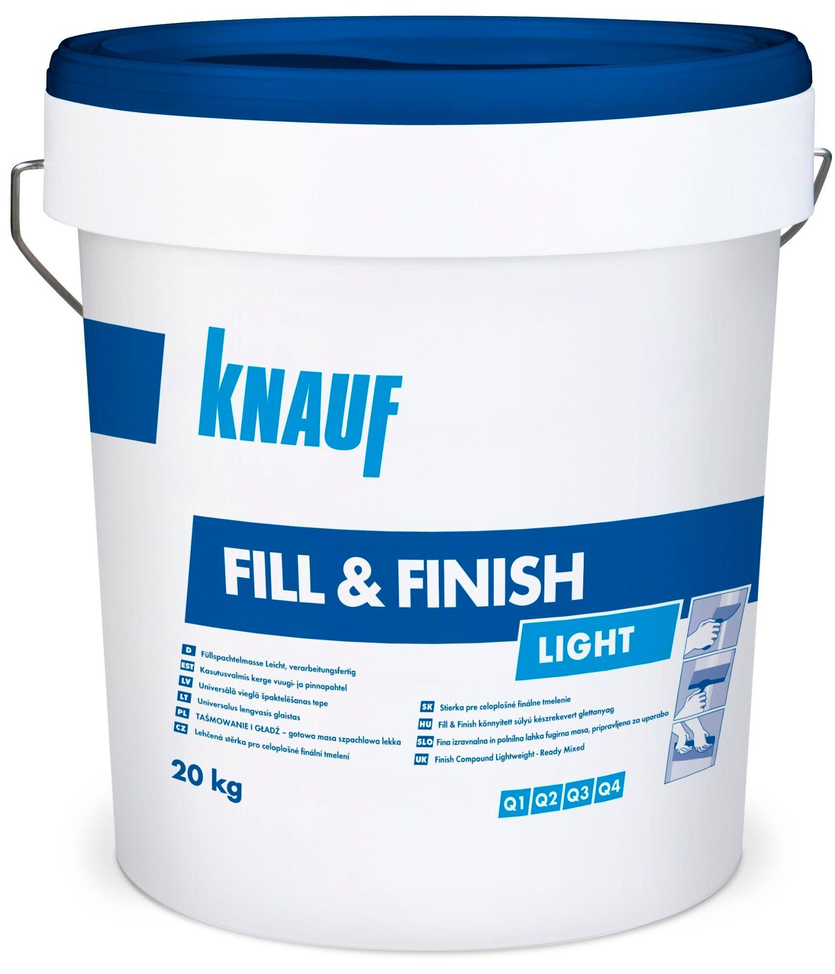 Knauf Fill & Finish Light 20 kg yleistasoite
