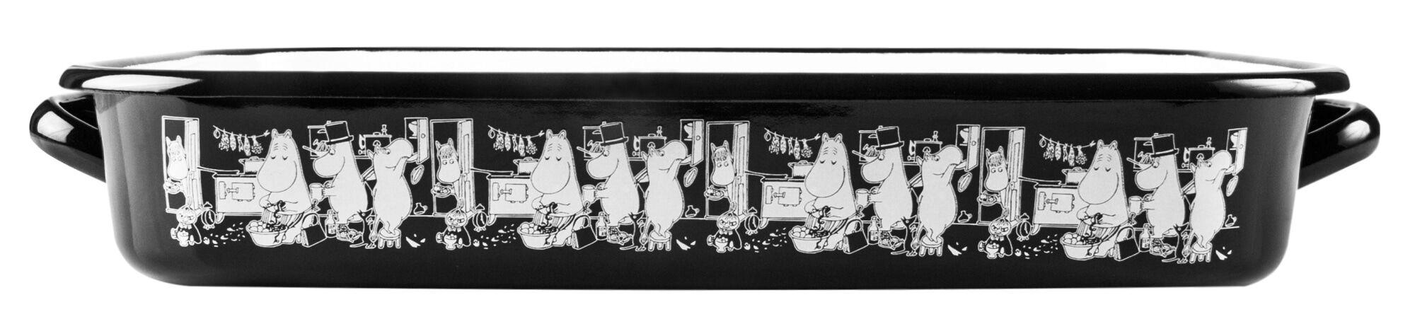 MUUMI Muurla Muumit keittiössä 32cm emaliuunivuoka