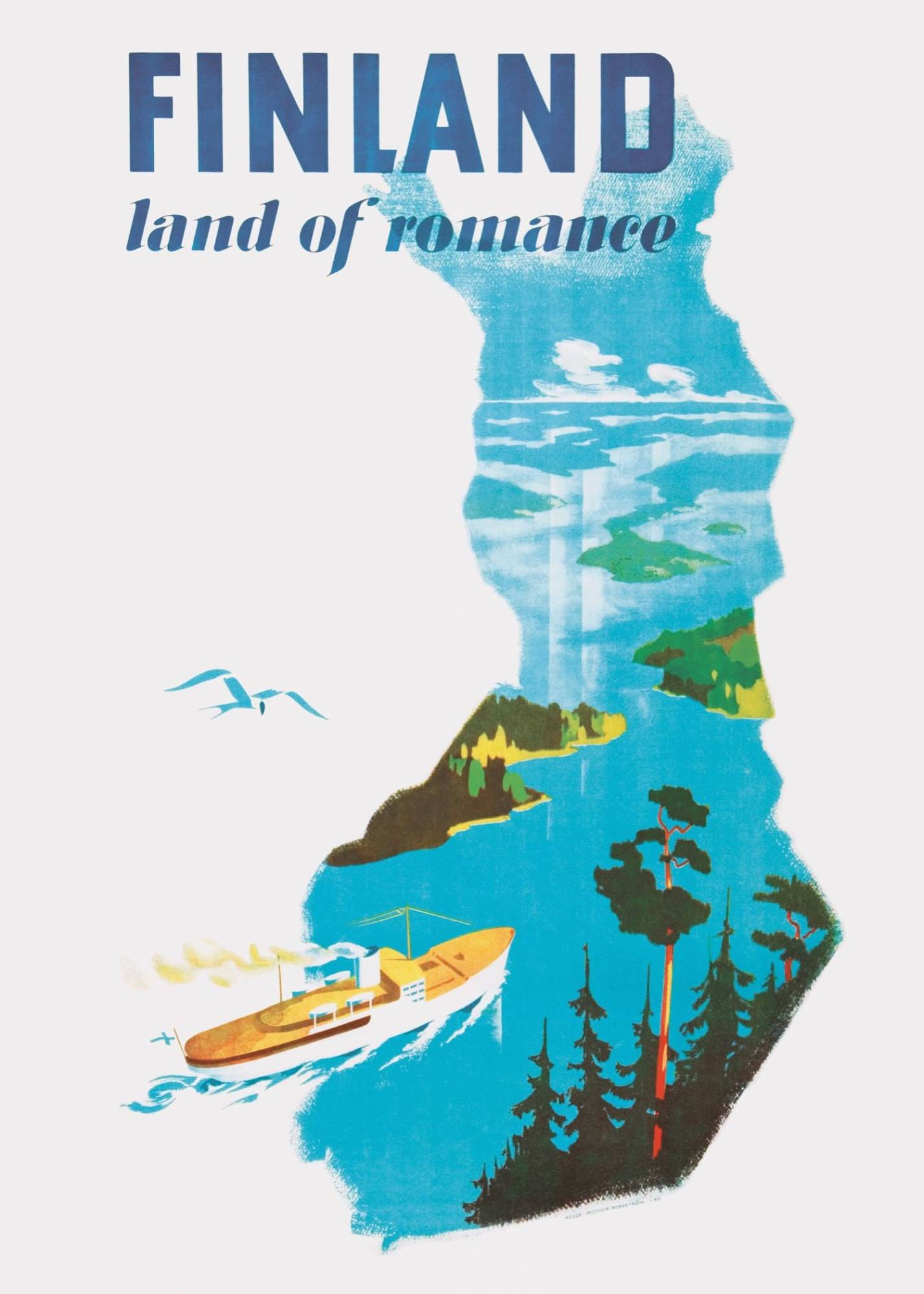 Come to Finland Land of romance 50x70cm juliste