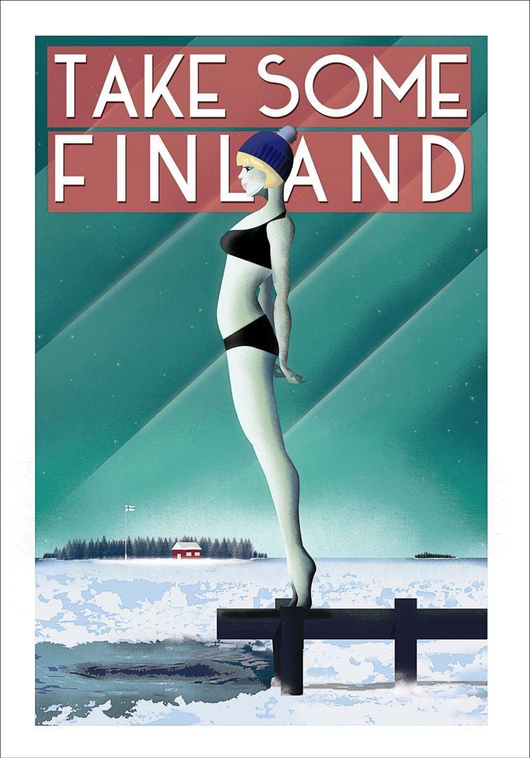 Come to Finland Take Some Finland 50x70cm juliste