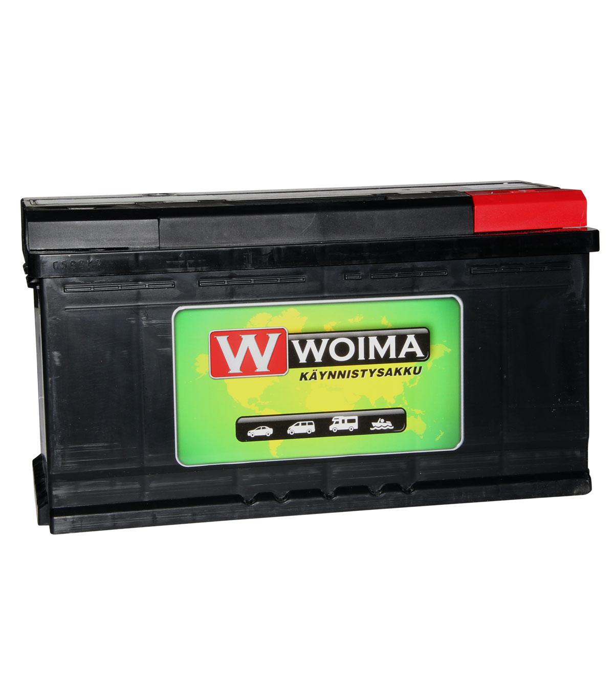 Woima 100Ah 835A 353x175x190mm -/+ käynnistysakku