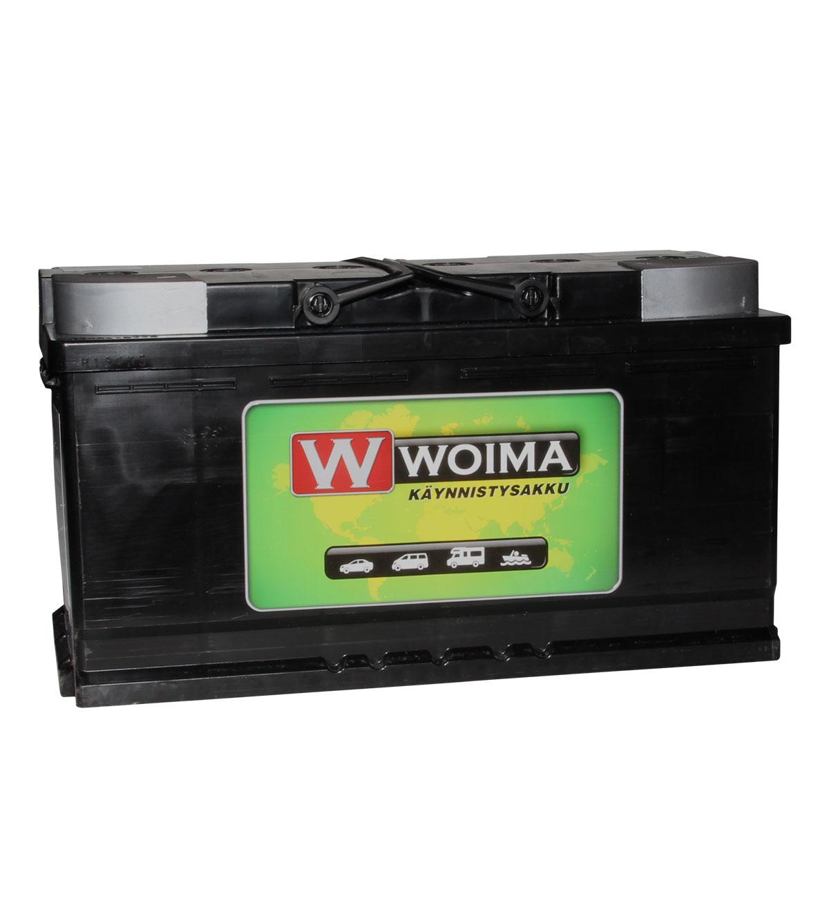 Woima Start&Stop AGM 95Ah 850A 353x175x190 -/+ käynnistysakku
