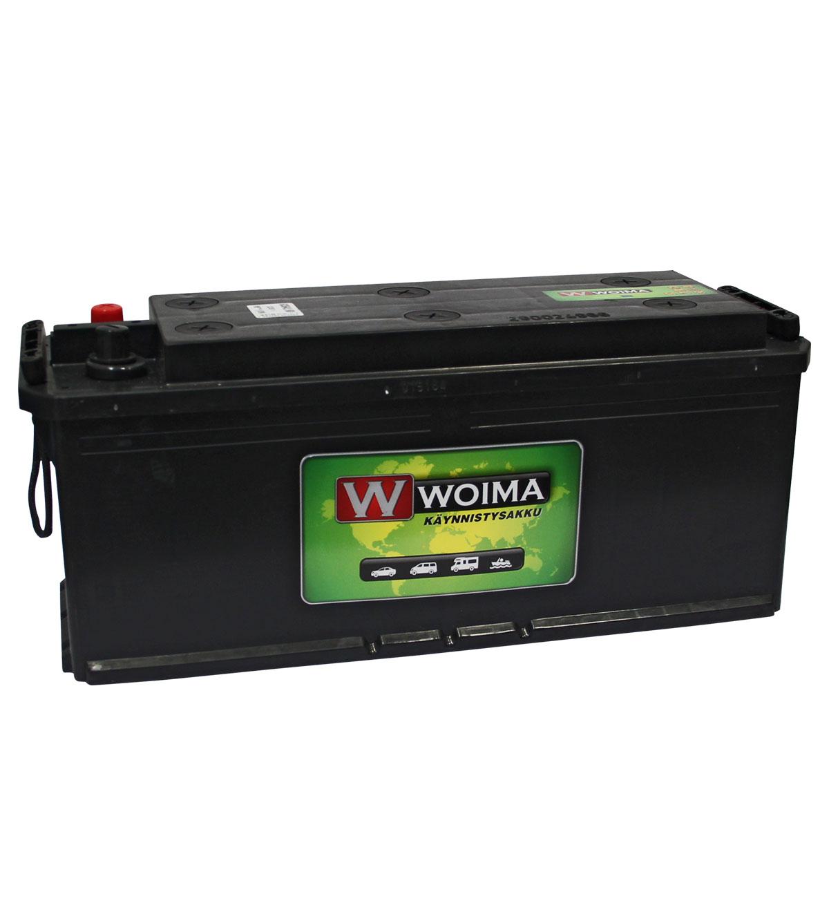 Woima HD 135Ah 1000A 514x175x210 +/- käynnistysakku