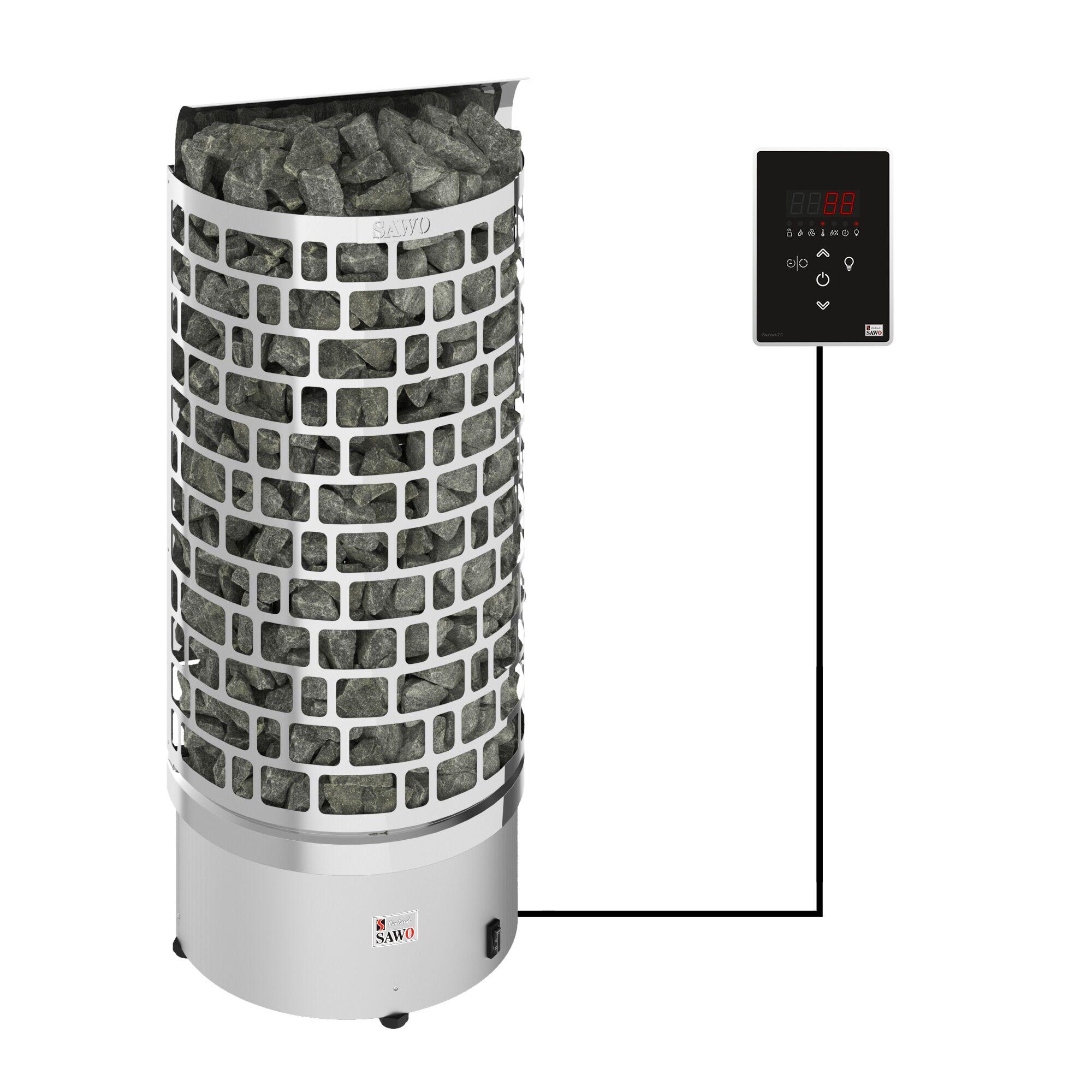 Sawo Aries Wall Ni2 7,5 kW sähkökiuas erillisellä ohjauskeskuksella
