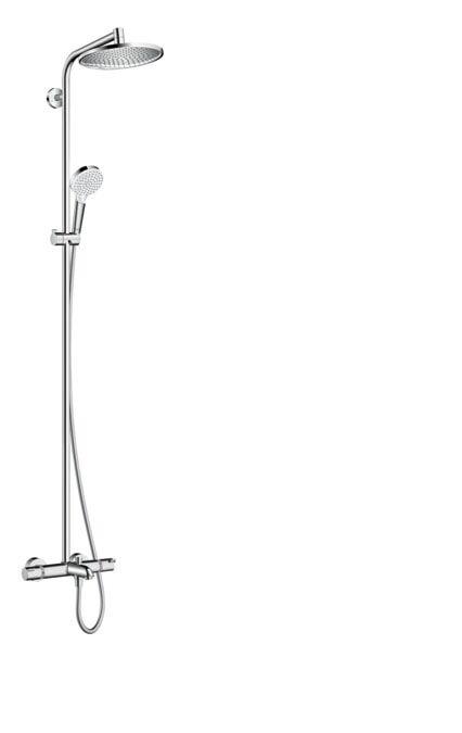 Hansgrohe Crometta S 240 Showerpipe suihkuhana juoksuputkella