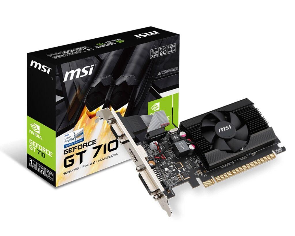 MSI GeForce GT 710 1GD3 LP 1GB low profile näytönohjain