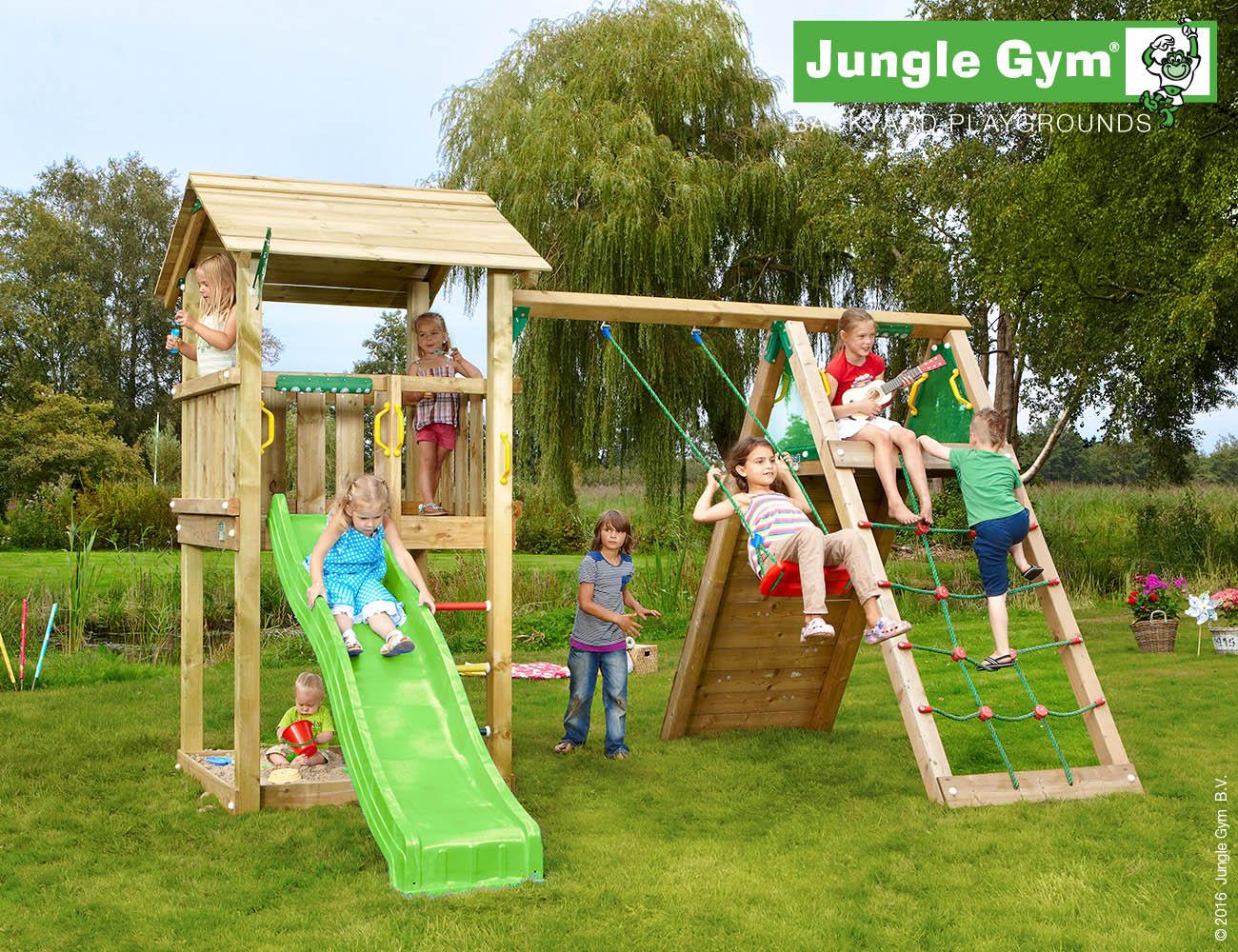 Jungle Gym Casa-leikkitorni ja kiipeilyteline