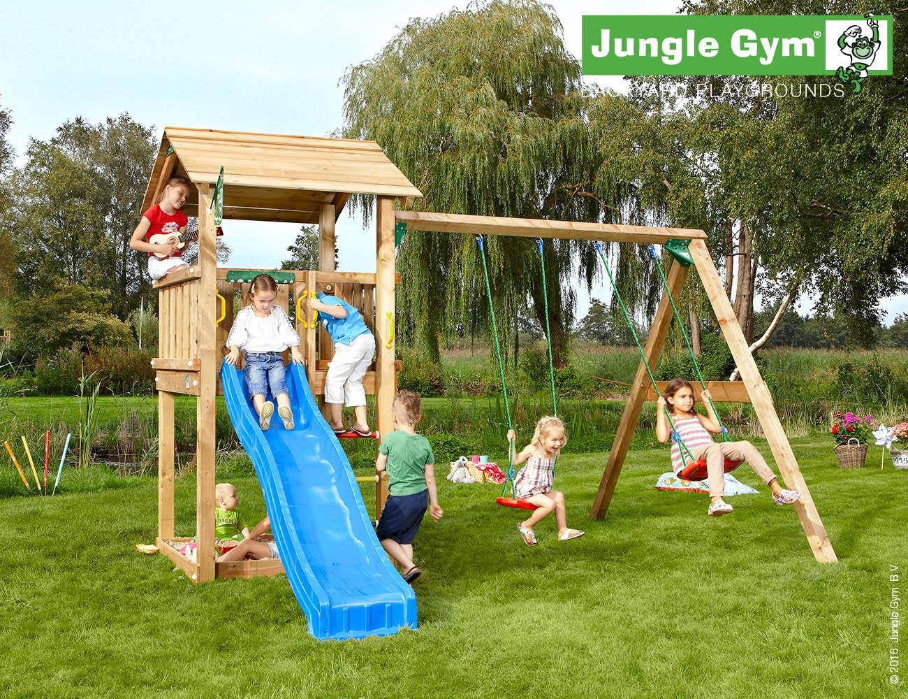 Jungle Gym Casa –leikkitorni ja keinut