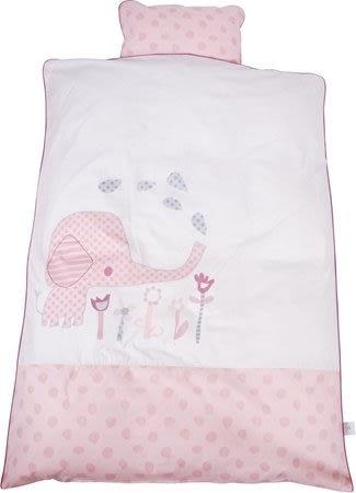 Baby Dan Elefantastic Pink pussilakanasetti