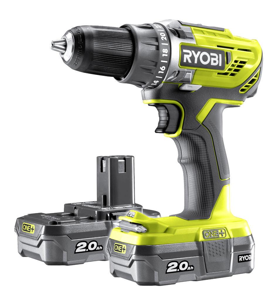 Ryobi One+ R18DD3-220S 18V 2Ah akkuporakone