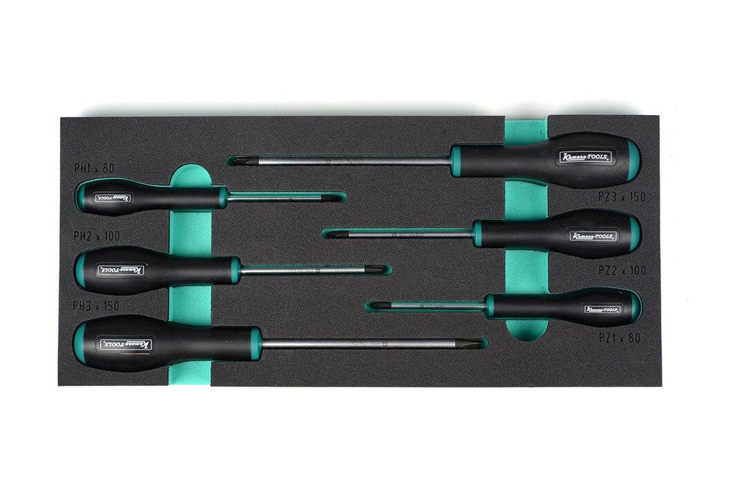 Kamasa-Tools K26153 ph, pzd 6-osainen ruuvitalttasarja