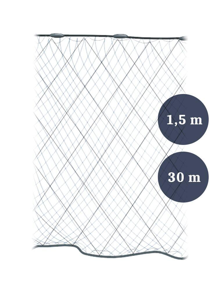 Kivikangas Pietarin 80 mm / 1,5 m / 2,1x0,12x3 mm / 30 m riimuverkko