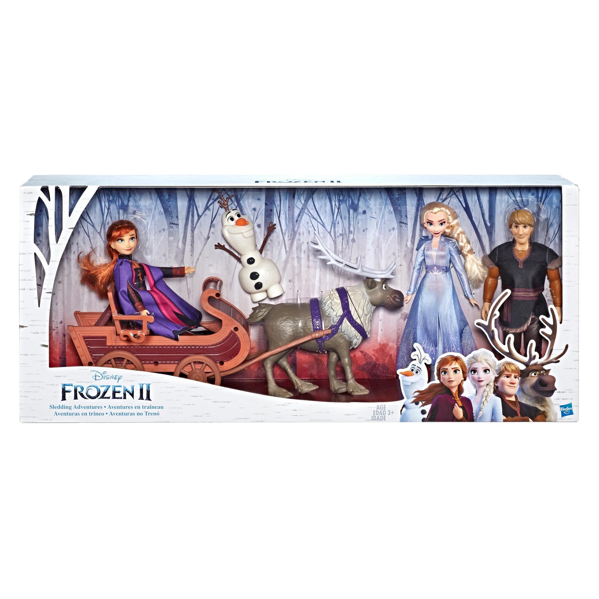 FROZEN Disney Frozen 2 Character Multipack With Sled hahmot + reki