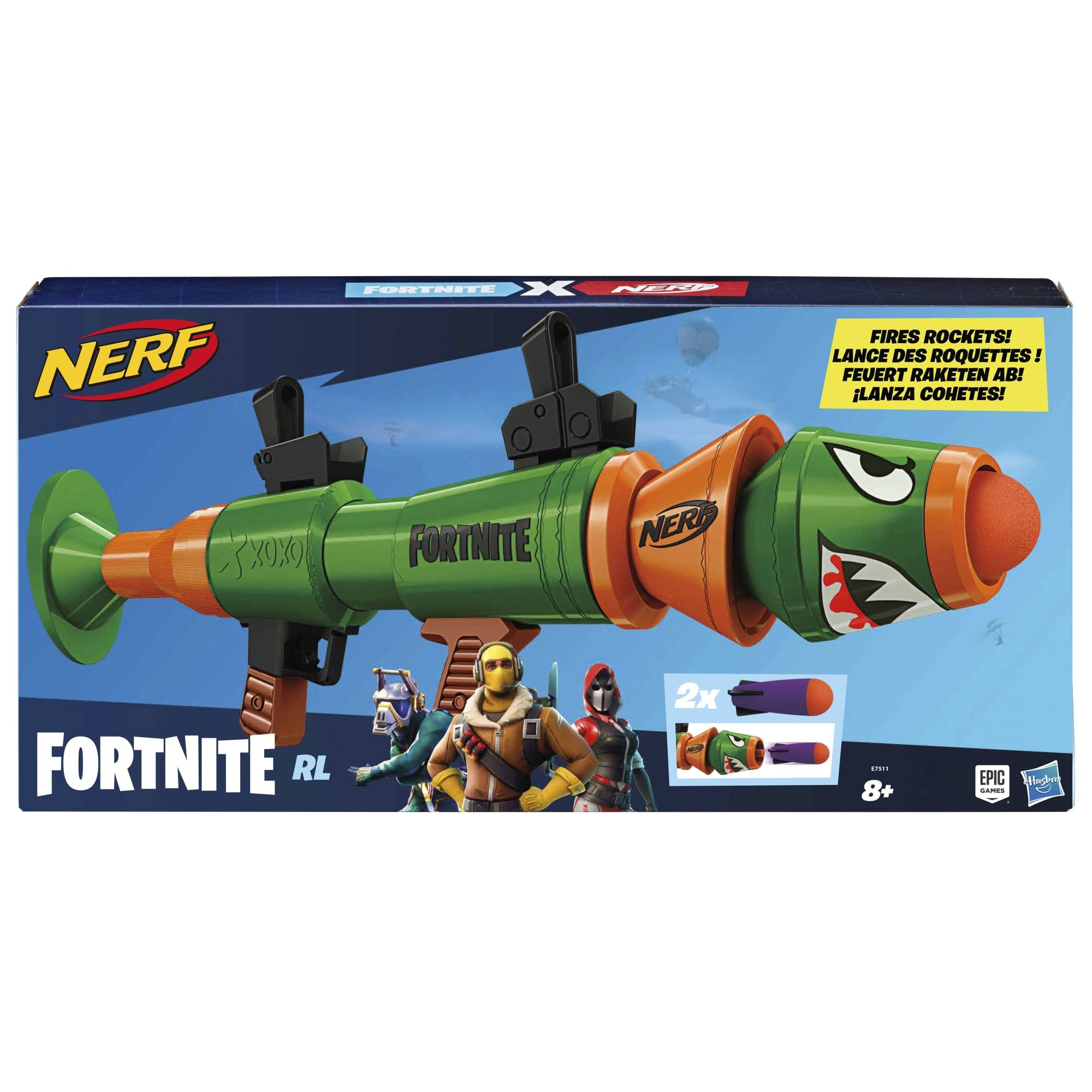 Nerf Fortnite Rusty Rocket raketinheitin nuolipyssy