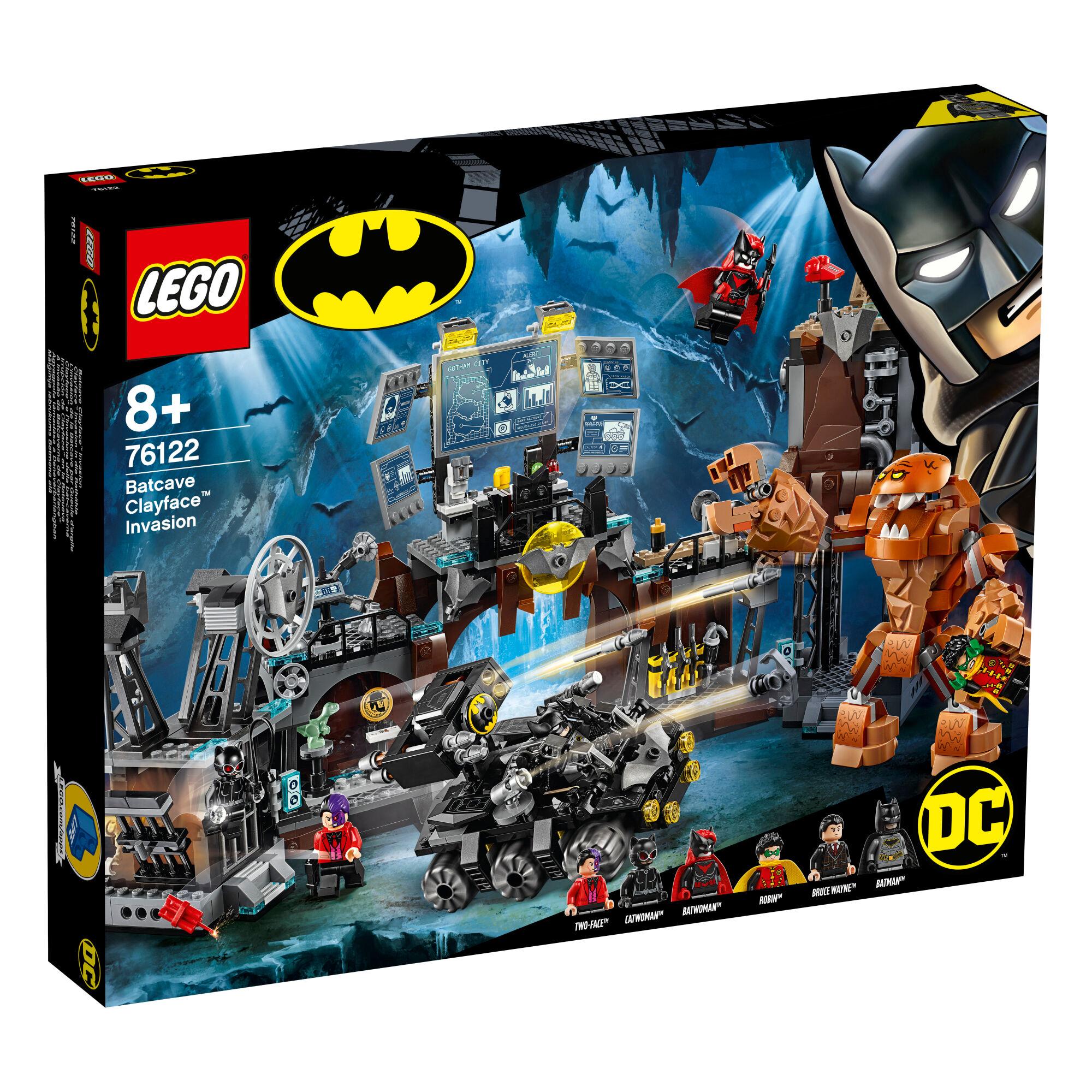 Lego 76122 Super Heroes Batman Clayfacen™ hyökkäys Lepakkoluolaan