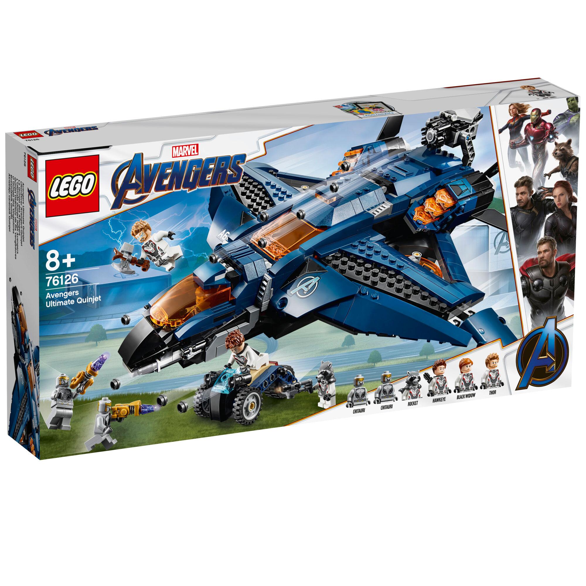 Lego Super Heroes 76126 Kostajien huikea Quinjet