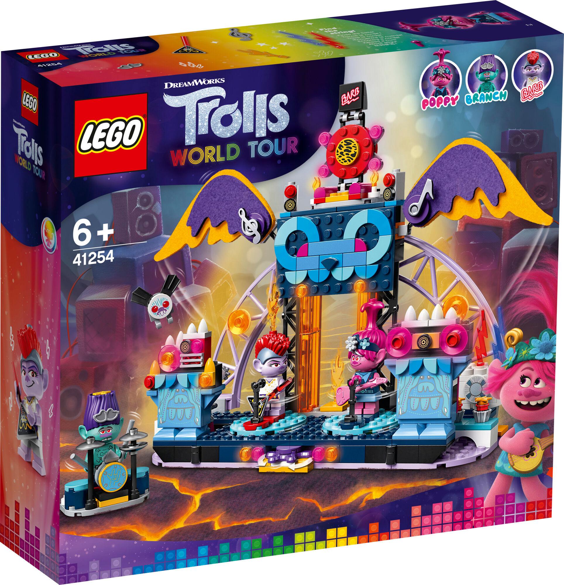 Lego 41254 Trolls Volcano Rock Cityn konsertti