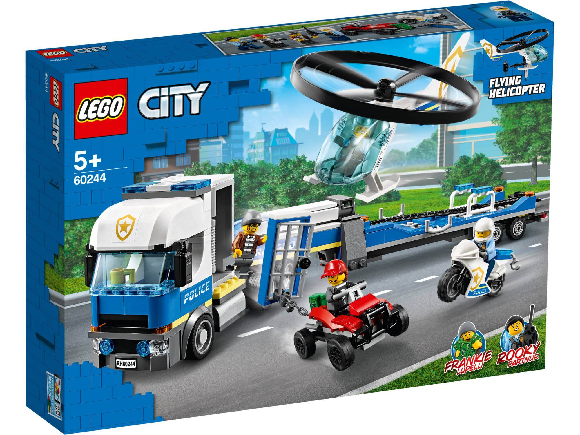 Lego City Police 60244 Poliisihelikopterin kuljetus