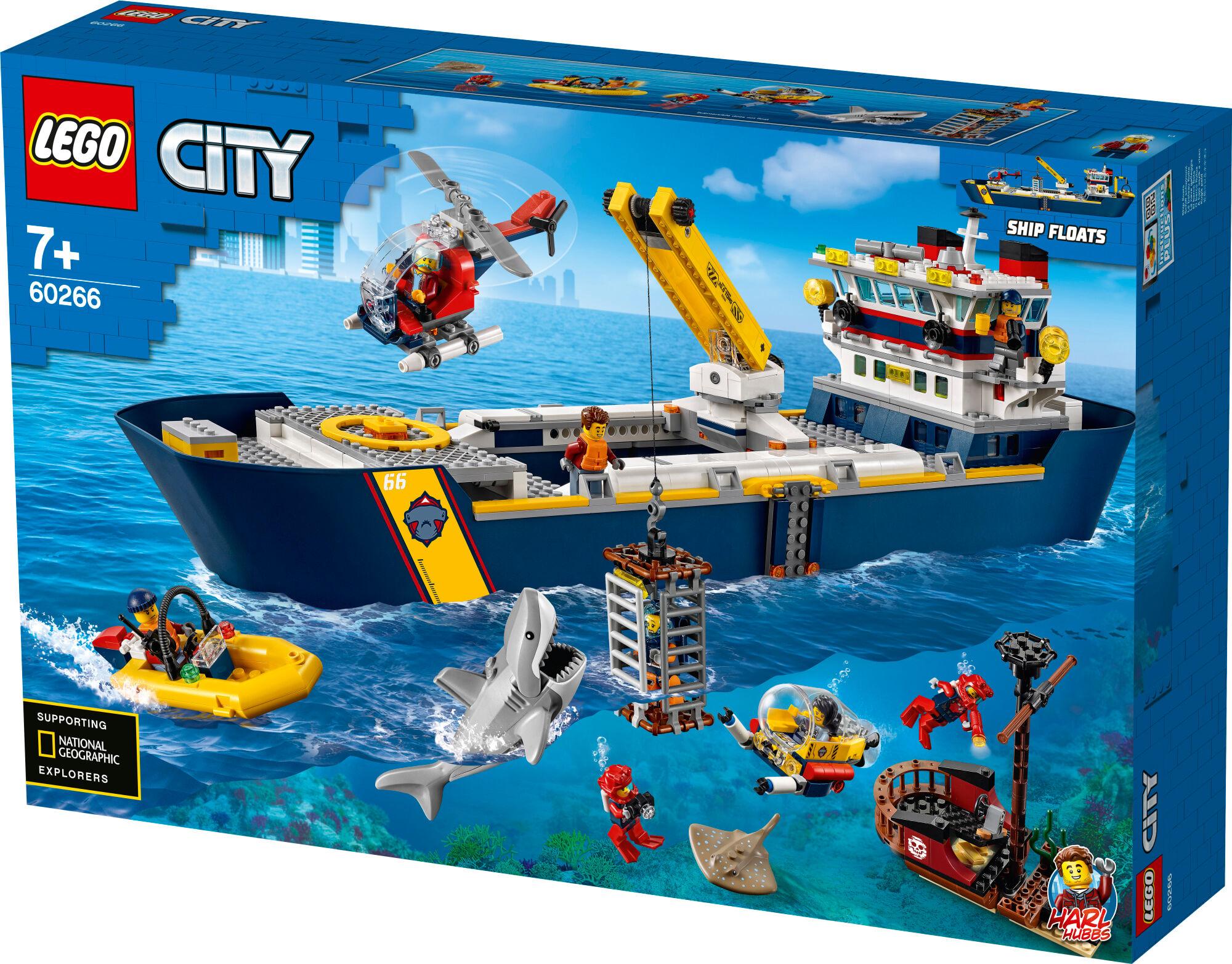 Lego City Oceans 60266 Valtameren tutkimuslaiva