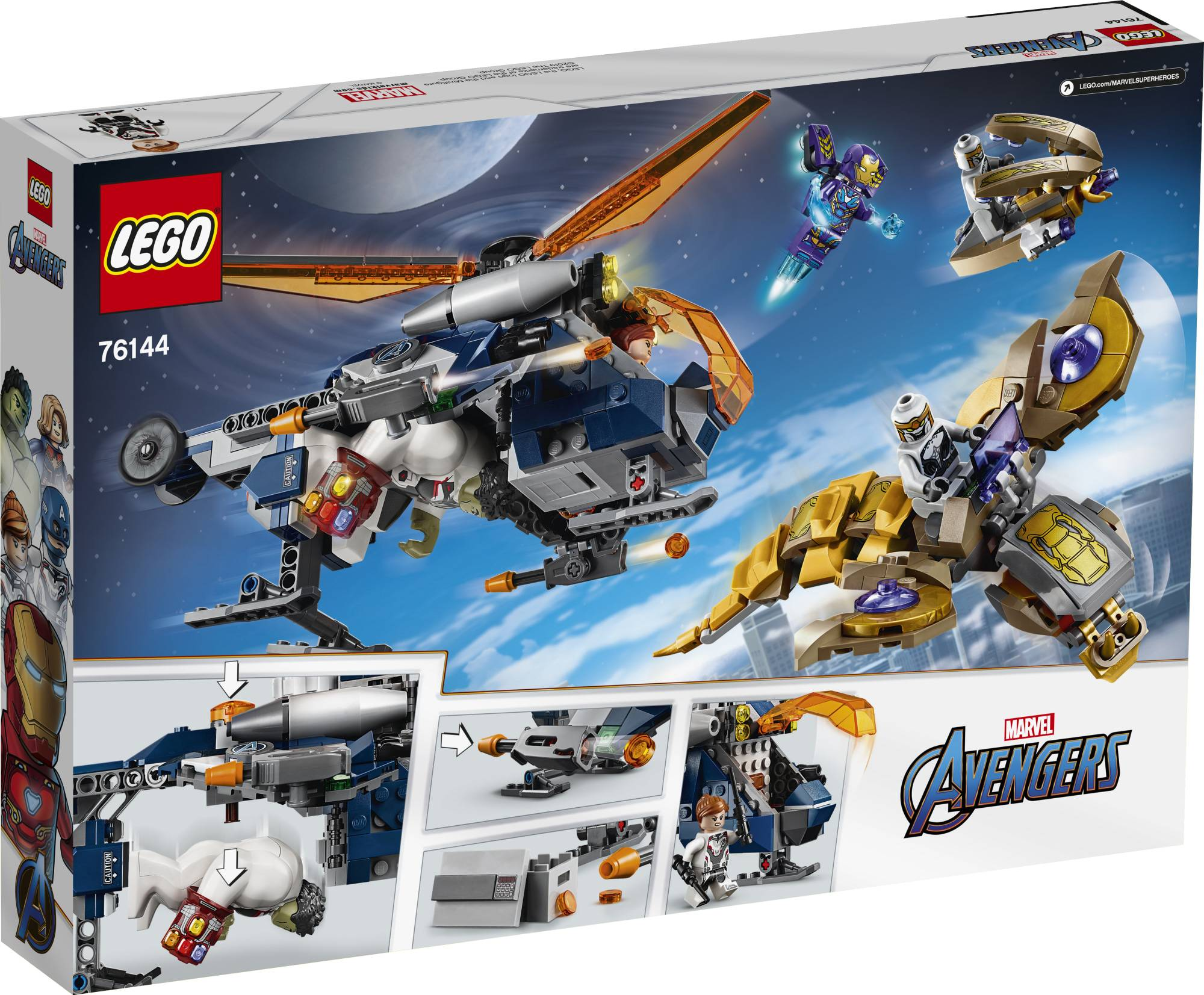 Lego Super Heroes 76144 Avengers Hulkin helikopteri ja Rescue