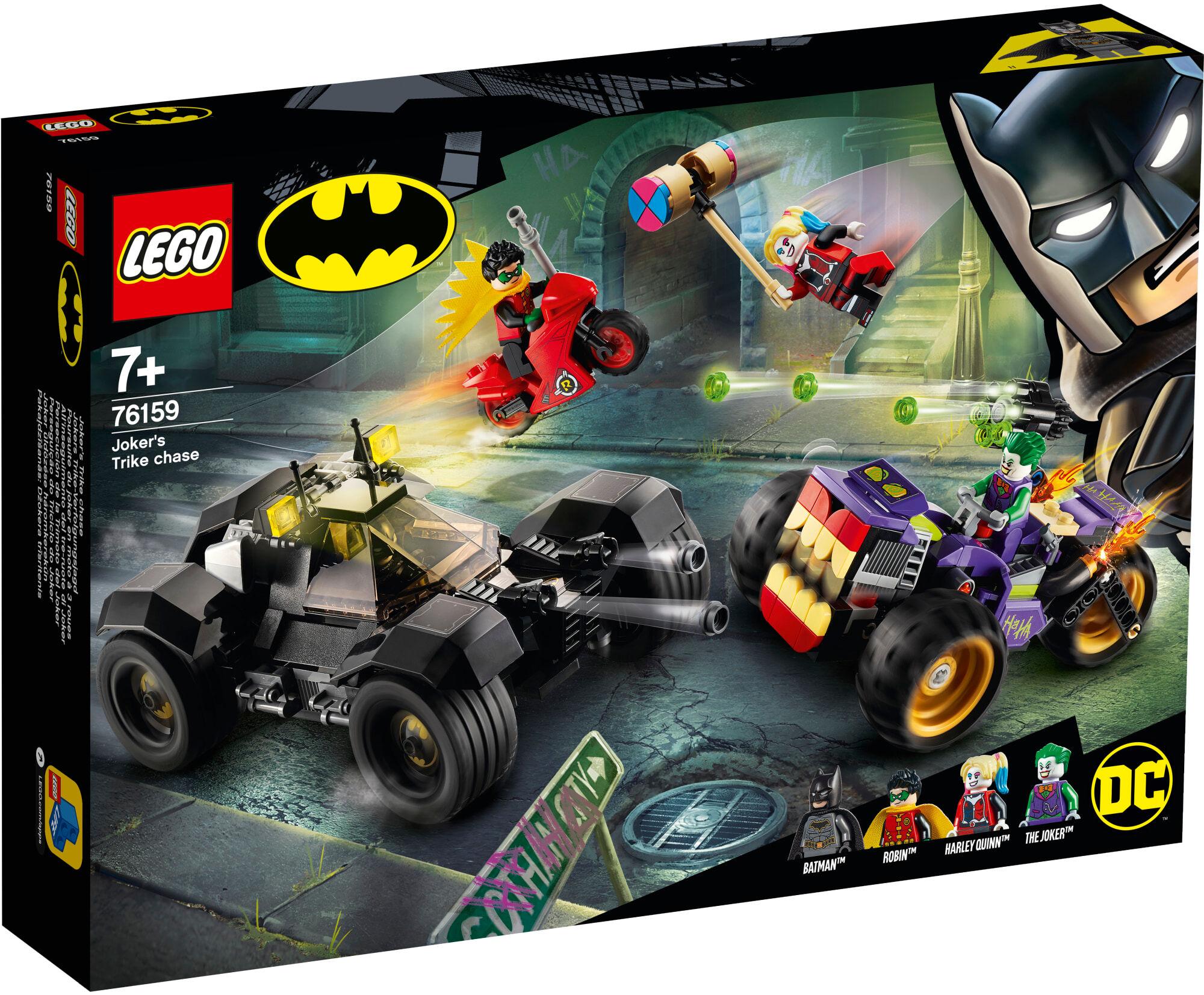 Lego Super Heroes 76159 Jokerin takaa-ajo kolmipyörämaasturilla