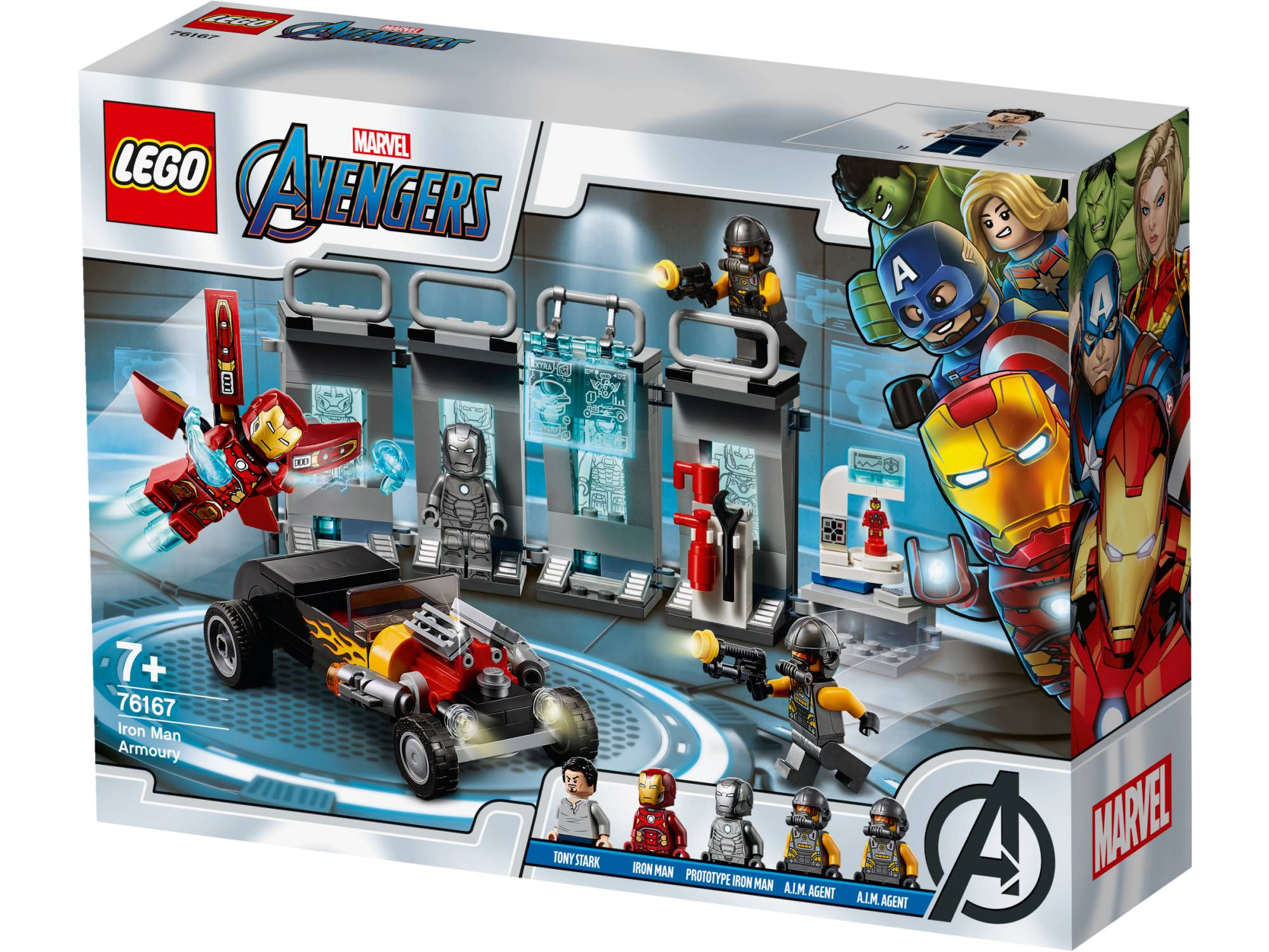 Lego Super Heroes 76167 Iron Manin asevarasto